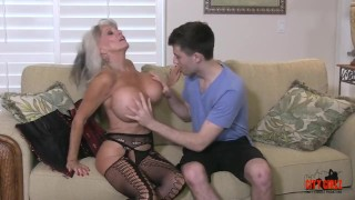 Hot Cougar Stepmom Fucks Her Young Son Anal big