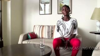 African cutie craving for big dick Facial blowjob