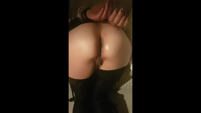 Dildo up my ass Loving being tied up and large dildo up my ass :