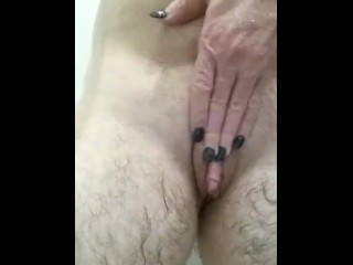 Teen Solo Sex Video Transman Gets Rubbed & Fingered In Shower By Sexy Long Nails Woman