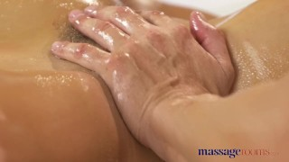 Preview 5 of Massage Rooms Anal creampie fucking for sexy young tanned Russian babe