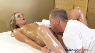 Massage Rooms Anal creampie fucking for sexy young tanned Russian babe
