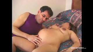 Horny pregnant asian babe sucks and fucks 3