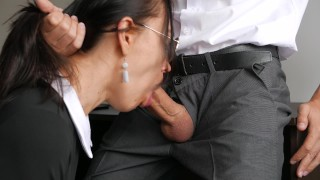 Horny Young Secretary Fucks In Anal, Pussy & Mouth With Her Office Boss French pov