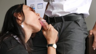 Horny Young Secretary Fucks In Anal, Pussy & Mouth With Her Office Boss Cumshot cowgirl
