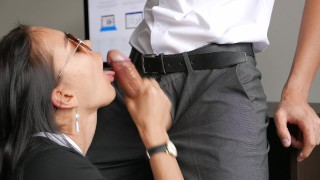 Horny Young Secretary Fucks In Anal, Pussy & Mouth With Her Office Boss Tits army