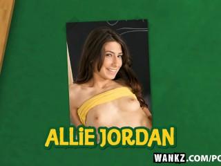 WANKZ- Allie Jordan Bends Over for an A