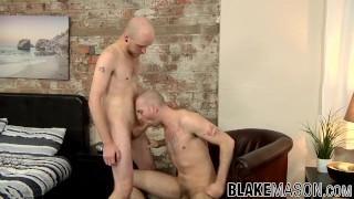 Hot butt buddies Sam Syron and Kieron Knight bang each other