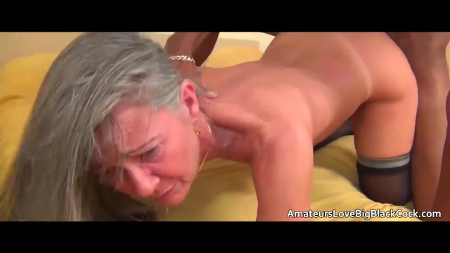 Grey Haired Granny Enjoys Big Black Cock - Pornhubcom-3779