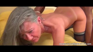 big tits grey hair teacher blowjob