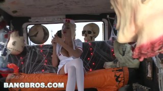 BANGBROS - Trick Or Treat, BITCHES! With MILF Puma Swede on Bang Bus!