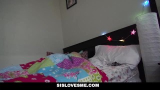 SisLovesMe - Petite Step Sis Sleeps In My Bed Ass big