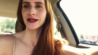 Drive public at car the freckledred wash thru cum and ginger shaved