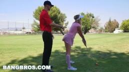 BANGBROS - Teen Karla Kush sucks dick and at plays golf, not in that order