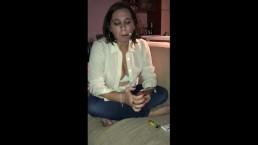Strong cigarillo inhaling