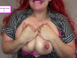 milf massages kissed lactating big boobs and squirts milk from huge nipples