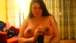 The mrs. gives me a spit shine and a tit fuck