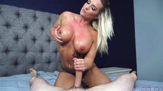 AMAZING blue eyes and an ENDLESS throat (Cali Carter) Style brunette