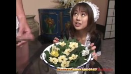 Japanese Maid uses her Mouth f
