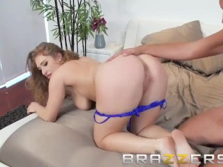 Hot And Busty Redhead Gets A Big Dick Surprise - Brazzers
