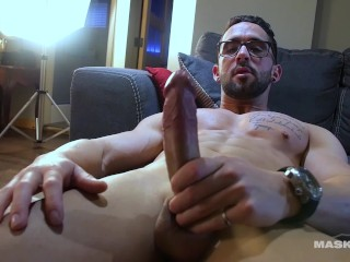 Maskurbate Naught Prof. Watches Str8 Student Jerk Off!