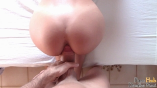 Young girl pov suck and ride then get hardly fucked and creampied Elsa jean
