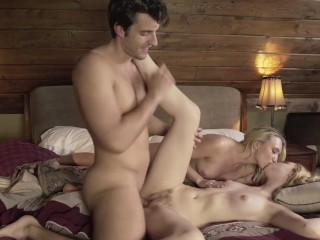 ADAM & EVE - AJ APPLEGATE GETS HER BIG ASS PLEASURED IN A MFF THREEWAY