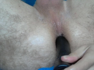 Fingering, getting hard with a buttplug and fucking myself with a dildo