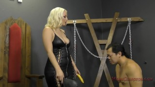 Mistress Jenna Ivory Humiliates and Uses Her Asian Slave - Femdom  ass worship verbal humiliation bdsm facesitting femdom blonde sph meanbitches busty kink butt foot worship ass licking jenna ivory lick her asshole