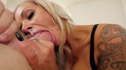 Suck Balls 5 Nina Elle Blonde MILF With Huge Tits Gets Hardcore Throat Fuck