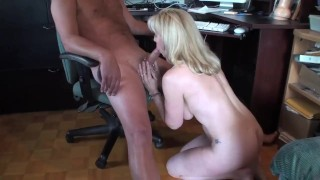 Preview 6 of Older Woman Gets A Huge Facial In Her Home Office
