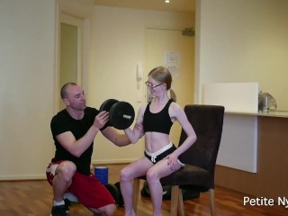 Estefania villarreal flaca working out - personal trainer role play big cock petite teenager young