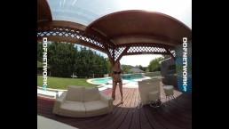 DDFNetwork VR - Poolside VR Striptease with Alice
