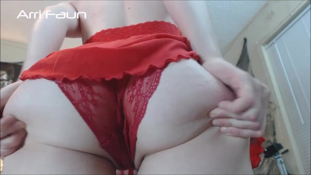 Fat round Pale White Girl Ass Jiggles in your Face with Camel Toe