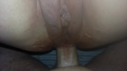 Closeup Spread Pussy with Big Lips Tight Anal Fucking Creampie