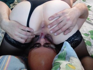 Oral sex couple Blowjob cunnilingus wet pussy on top of the face