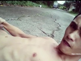 Road side Jerk Off of Pinoy Twink Andrei_B