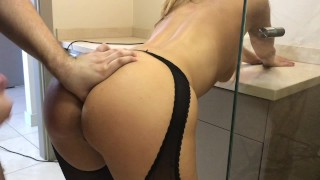 step brother take sister to the hotel room and cum on shes ass Busty mom