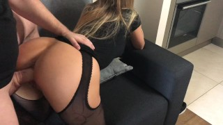 Room the hotel to brother step sister shes on ass and take cum rough sister