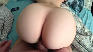 A young schoolgirl after a shower wanted to have sex Pov big
