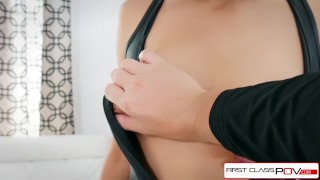 First Class POV - Teen Cadey Mercury is punished by a big dick Missionary european