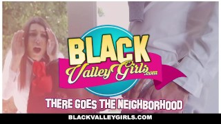 BlackValleyGirls - Ebony Kendall Woods & Best Friend Share Big Cock Brunette blowjob