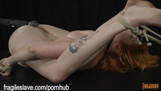 Busty Babe Begging to Cum  bound orgasms tied up bdsm bound kink bondage big boobs rope bondage restrained redhead fragileslave ballgagged struggling bondage orgasms
