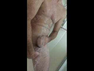 Cock ring play in the shower!