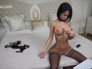 Anisyia Jasmindotcom drooling deepthroat and ass penetration
