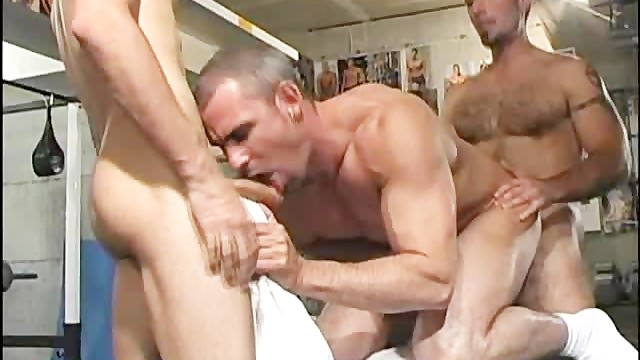 Vintage gay sites Awesome threesome at the gym