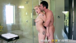 Hot & Busty Blonde Gets Fucked In The Bathroom - Brazzers