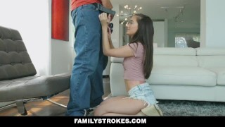 FamilyStrokes - Seductive Teen Gia Paige Seduces Her Stepdad for Money Teen 2