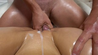 Teen wet after oiled grinding light pussy with rubbing carry getting fucked big wet