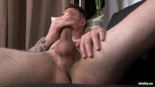 ActiveDuty Major Hunk Jerks Gorgeous Cock